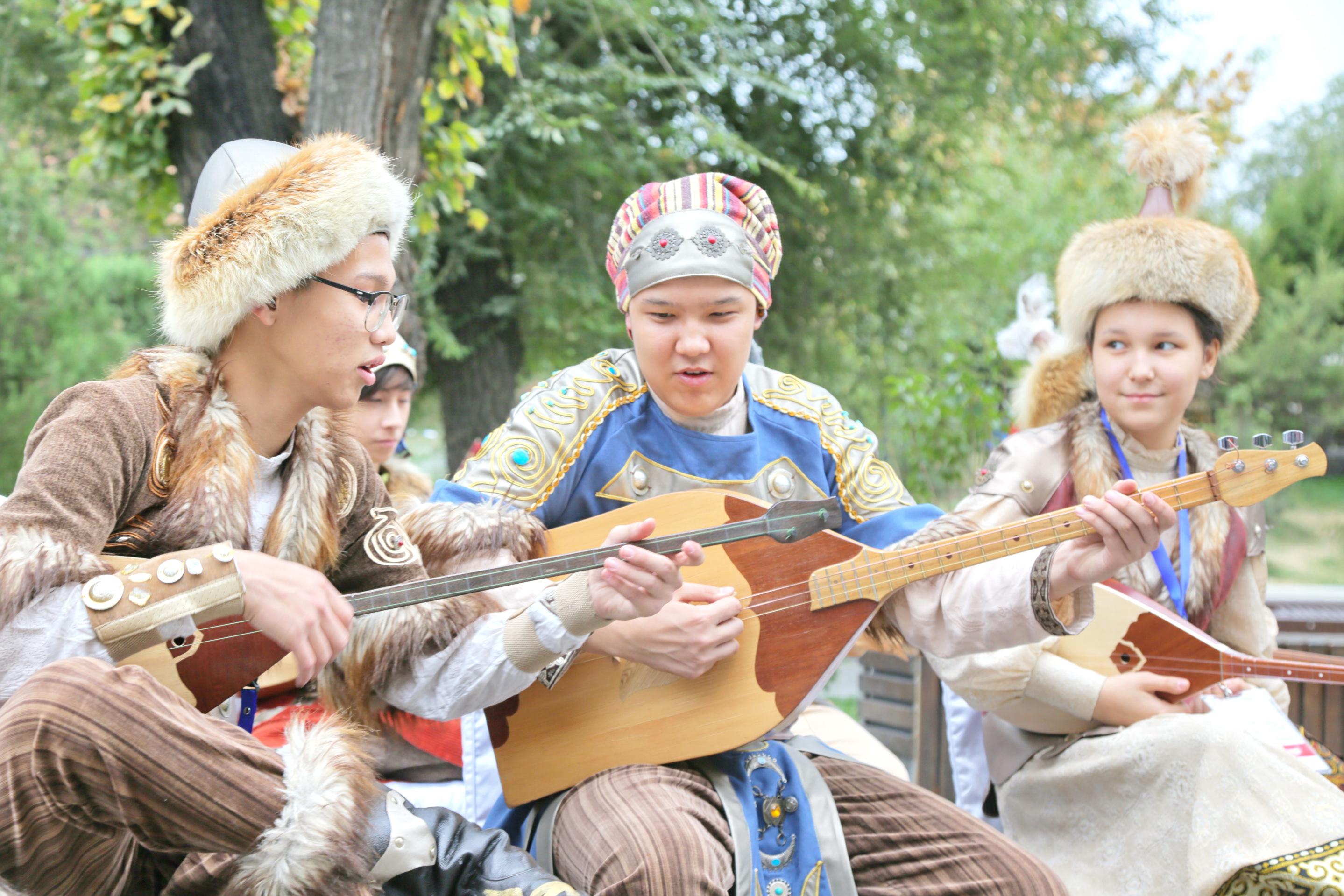 Молодые музыканты/Школа Кокиль ©ЮНЕСКО Алматы